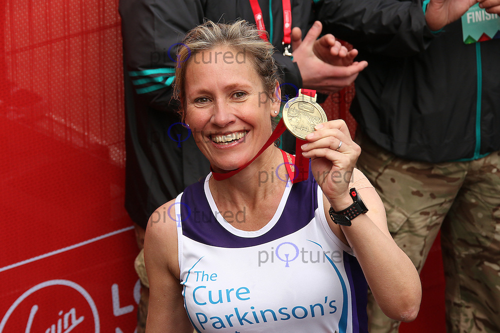 Sophie Raworth, Virgin Money London Marathon, London UK, 24 April 2016, Photo by Brett D. Cove