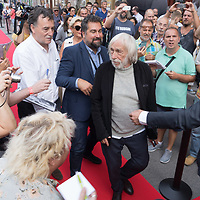 French actor Pierre Richard attends the Budapest Classics Film Marathon where more of his famous movies are played in Budapest, Hungary on Sept. 6, 2019. ATTILA VOLGYI