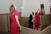 JENNIFER EWING, Michelangelo Pistoletto: The Mirror of Judgement, Serpentine Gallery. Lond11 July 2011. on. <br /> <br />  , -DO NOT ARCHIVE-© Copyright Photograph by Dafydd Jones. 248 Clapham Rd. London SW9 0PZ. Tel 0207 820 0771. www.dafjones.com.