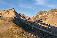 View from the Chrummhüreli towards the pass Ducanfurgga, Val da Stugl, Parc Ela, Grisons, Switzerland