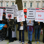 Somalis Islam against terrorism protest against the bombing in Mogadishu