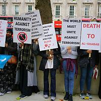 Somalis Islam against terrorism protest against the bombing in Mogadishu