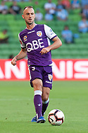 MELBOURNE, VIC - JANUARY 19: Perth Glory defender Ivan Franjic (5) passes on the ball downfield at the Hyundai A-League Round 14 soccer match between Melbourne City FC and Perth Glory at AAMI Park in VIC, Australia 19th January 2019. Image by (Speed Media/Icon Sportswire)