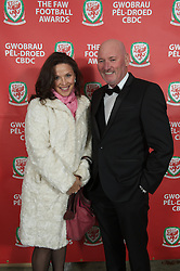 CARDIFF, WALES - Monday, October 8, 2012: Guests arrive for the FAW Player of the Year Awards Dinner at the National Museum Cardiff. (Pic by David Rawcliffe/Propaganda) xxxx