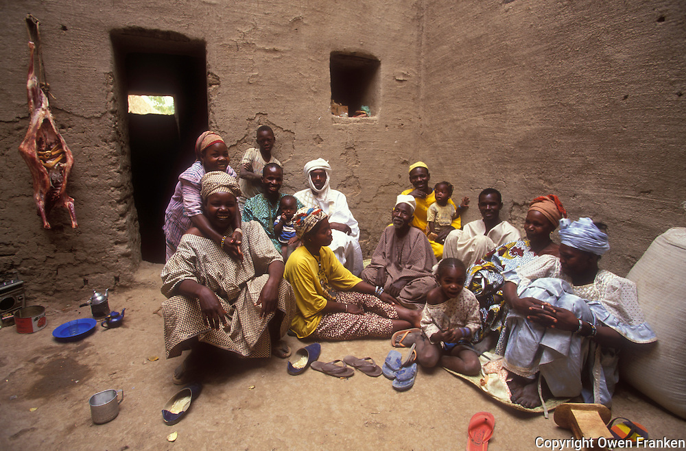 family in Djenne, Mali