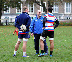 Marco Mama and Andy Robinson speak with each other - Photo mandatory by-line: Dougie Allward/JMP - Mobile: 07966 386802 - 06/11/2014 - SPORT - Rugby - Bristol - College Green - Bristol Rugby v  - Rugby on the green