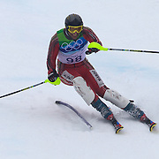 Winter Olympics, Vancouver, 2010.Samir Azzimani, MAR,  in action during the Alpine Skiing, Men's Slalom at Whistler Creekside, Whistler, during the Vancouver Winter Olympics. 27th February 2010. Photo Tim Clayton