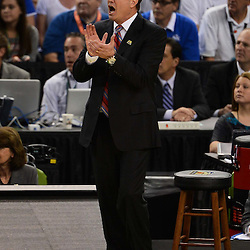 Apr 2, 2012; New Orleans, LA, USA; Kansas Jayhawks head coach Bill Self reacts during the first half in the finals of the 2012 NCAA men's basketball Final Four against the Kentucky Wildcats at the Mercedes-Benz Superdome. Mandatory Credit: Derick E. Hingle-US PRESSWIRE