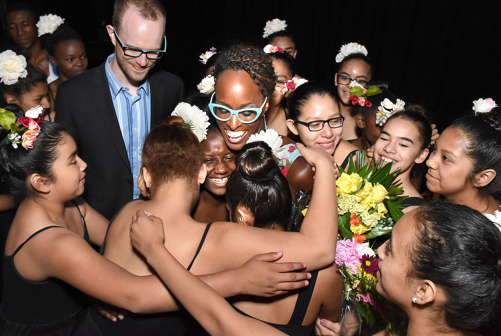 Mara Lavitt -- Special to the Courant<br /> June 14, 2015 Fair Haven School, New Haven.<br /> Mnikesa Whitaker, founder of Ballet Haven and beloved Fair Haven School teacher was honored with dance and music performances on the occasion of her retirement due to illness. Whitaker was mobbed after the event by participants.
