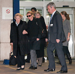 © Licensed to London News Pictures. 02/03/2012. London, UK. Queen Beatrix of the Netherlands and Princess Mabel of Orange-Nassau (left) leaving The Wellington Hospital in London hand in hand today (02/03/2012) after visiting Prince Friso at His Hospital bed. Prince Johan Friso, who has been in a coma since a skiing accident two weeks ago, has been flown from Austria to the London Hospital. Photo credit : Ben Cawthra/LNP