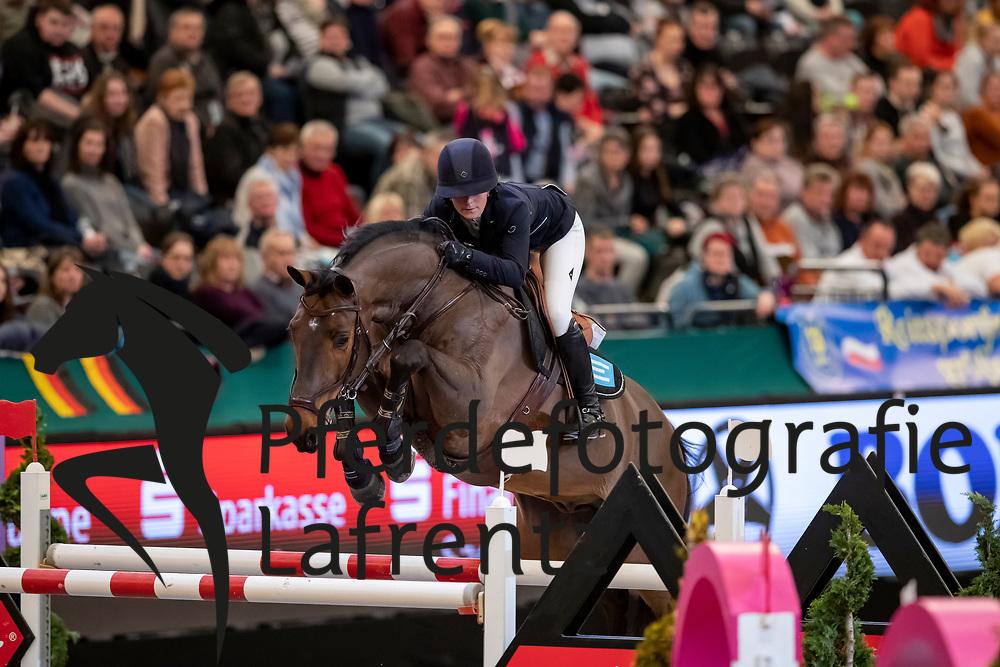 KARLSSON Irma (SWE), Chacconu<br /> Leipzig - Partner Pferd 2019<br /> IDEE Kaffe Preis<br /> CSI5*<br /> 18. Januar 2019<br /> © www.sportfotos-lafrentz.de/Stefan Lafrentz