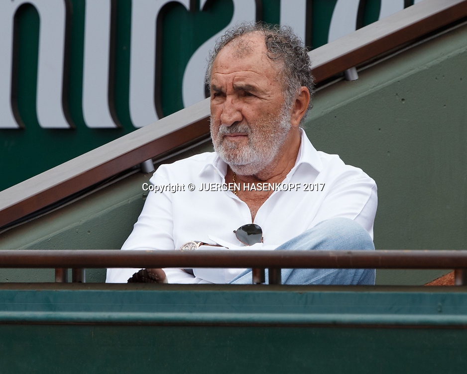 Tennis Impresario ION TIRIAC (ROU) sitzt in seiner VIP Loge,<br /> <br /> Tennis - French Open 2017 - Grand Slam / ATP / WTA / ITF -  Roland Garros - Paris -  - France  - 3 June 2017.