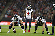 Houston Texans Quarterback Deshaun Watson (4) during the International Series match between Jacksonville Jaguars and Houston Texans at Wembley Stadium, London, England on 3 November 2019.