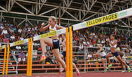 POTCHEFSTROOM, SOUTH AFRICA, Saturday 24 March 2012, Claudia Viljoen of Tuks in the 100m hurdles for women during the Yellow Pages Series 2 athletics meeting at the McArthur Stadium..Photo by Roger Sedres/Image SA