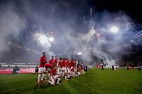 Firework inside stadium of AZ Alkmaar