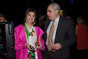 FATIMA MALIKI; THEODORE FATSIS, The ICA's Psychedelica Gala Fundraising party. Institute of Contemporary Arts. The Mall. London. 29 March 2011. -DO NOT ARCHIVE-© Copyright Photograph by Dafydd Jones. 248 Clapham Rd. London SW9 0PZ. Tel 0207 820 0771. www.dafjones.com.