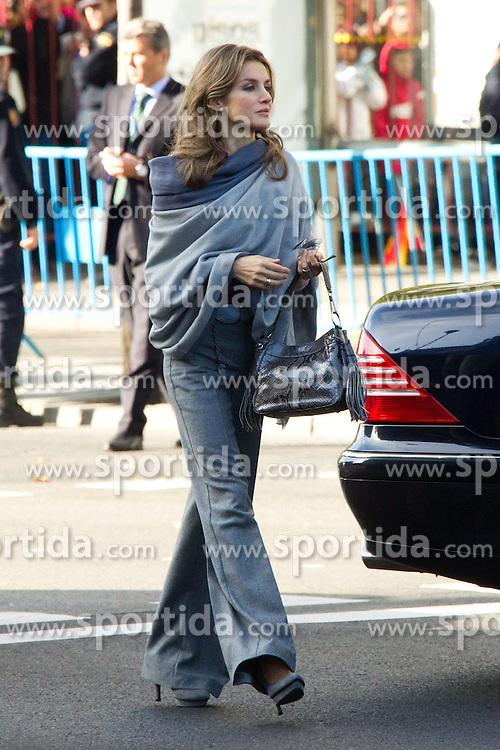 12.10.2010, Madrid, ESP, Spain National Day in Madrid, im Bild Princess Letizia, Prince Felipe, Princess Elena, Princess Cristina and Inaki Urdangarin, King Juan Carlos and Queen Sofia attend the military parade at Spain`s National Day in Madrid. Pictured Princess Letizia Ortiz. EXPA Pictures © 2010, PhotoCredit: EXPA/ Alterphotos/ Cesar Cebolla +++++ ATTENTION - OUT OF SPAIN / ESP +++++