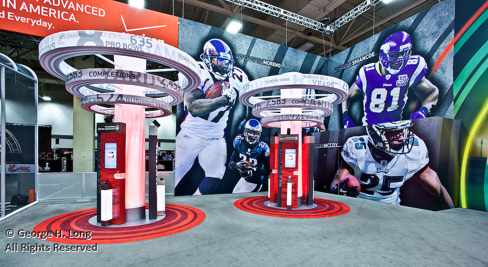 Verizon Superbowl display at the Dallas Convention Center; Pinnacle Exhibits