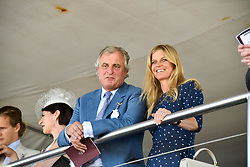 Viscount Astor and the Marchioness Of Milford Haven at the Qatar Goodwood Festival - Glorious Goodwood, Goodwood Racecourse, West Sussex 02 August 2018.
