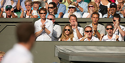 LONDON, ENGLAND - Wednesday, June 30, 2010: Judy (Judith) Murray and Kim Sears watch as Andy Murray (GBR) plays the Gentlemen's Singles Quarter-Final on day nine of the Wimbledon Lawn Tennis Championships at the All England Lawn Tennis and Croquet Club. (Pic by David Rawcliffe/Propaganda)