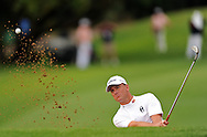 SUN CITY, SOUTH AFRICA - 3 December 2009. Robert Karlsson plays from the bunker on 15 during the first round on Thursday, 3 December 2009 of the Nedbank Golf Challenge at Sun City..Photographer : Anton de Villiers/SPORTZPICS