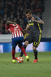 February 21, 2019 - Madrid, Madrid, Spain - Douglas Costa de Souza of Juventus  during UEFA Champions League round of 16 soccer match between Atletico Madrid and Juventus at Wanda Metropolitano Stadium in Madrid, Spain on February 20, 2019 Photo: Oscar Gonzalez/NurPhoto  (Credit Image: © Oscar Gonzalez/NurPhoto via ZUMA Press)