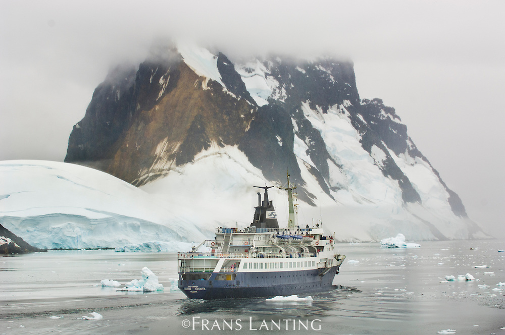 Cruise ship, Lemaire Channel, Antarctica