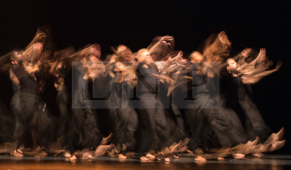 © Licensed to London News Pictures. 03/09/2015. London, UK. The Rashomon Effect choreographed by Akram Khan. Multiple in camera exposure. 125 young dancers perform at the new annual Apex Rising Festival at Sadler's Wells organised by the National Youth Dance Company. Photo credit : Bettina Strenske/LNP