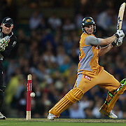 Australian batsman Adam Voges in action during the Twenty20 International between Australia and New Zealand  at the Sydney Cricket Ground on the 15th February 2009. Australia won the thrilling match by one run. Photo Tim Clayton