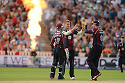 Northants celebrate during the NatWest T20 Blast final match between Northants Steelbacks and Lancashire Lightning at Edgbaston, Birmingham, United Kingdom on 29 August 2015. Photo by David Vokes.