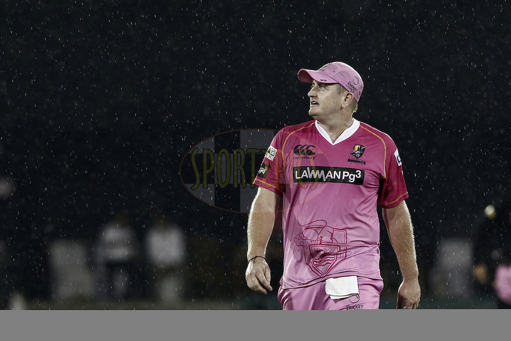 Scott Styris of the NORTHERN KNIGHTS during match 3 of the Oppo Champions League Twenty20 between the Cape Cobras and the Northern Knights held at the Chhattisgarh International Cricket Stadium, Raipur, India on the 19th September 2014<br /> <br /> Photo by:  Deepak Malik / Sportzpics/ CLT20<br /> <br /> <br /> Image use is subject to the terms and conditions as laid out by the BCCI/ CLT20.  The terms and conditions can be downloaded here:<br /> <br /> http://sportzpics.photoshelter.com/gallery/CLT20-Image-Terms-and-Conditions-2014/G0000IfNJn535VPU/C0000QhhKadWcjYs