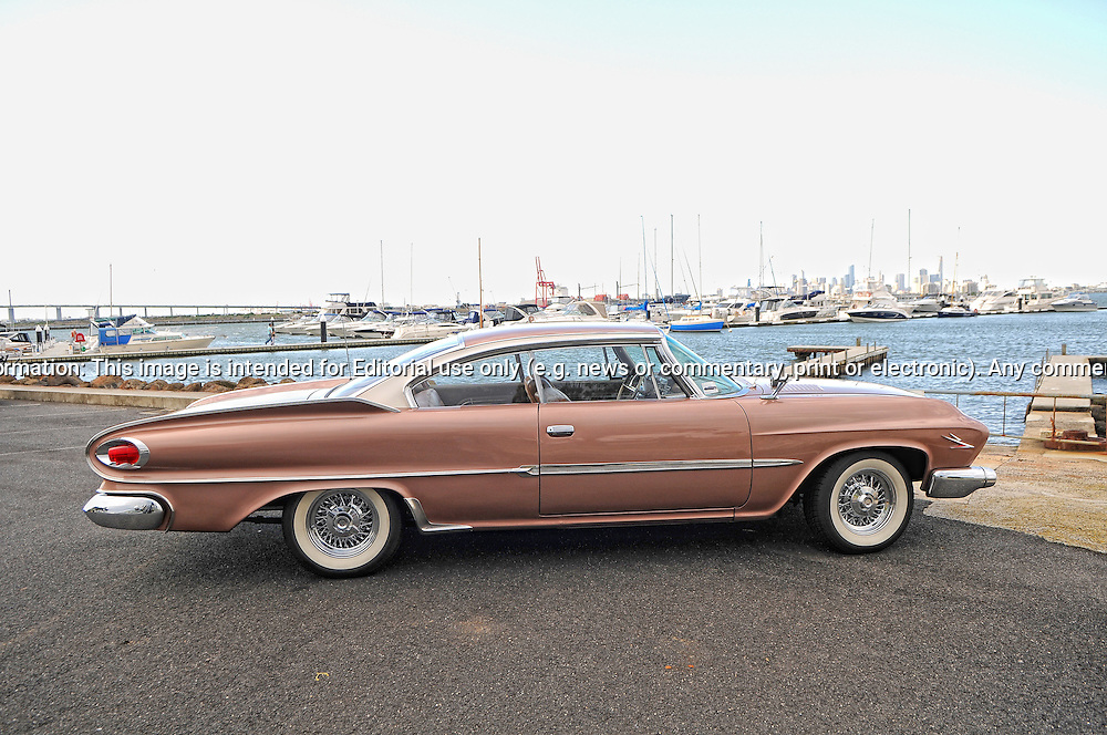 1961 Dodge Polara - Bronze.For Bonhams Auction Catalogue.The Anchorage Marina.Williamstown, Victoria, Australia.17th September 2011.(C) Joel Strickland Photographics.Use information: This image is intended for Editorial use only (e.g. news or commentary, print or electronic). Any commercial or promotional use requires additional clearance.