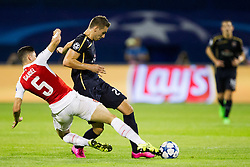 Gabriel #5 of Arsenal F.C. during football match between GNK Dinamo Zagreb, CRO and Arsenal FC, ENG in Group F of Group Stage of UEFA Champions League 2015/16, on September 16, 2015 in Stadium Maksimir, Zagreb, Croatia. Photo by Urban Urbanc / Sportida