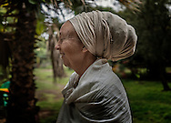Sandrine, originally from Paris, who runs the Zion Train Lodge along with her husband, Alex in the green oasis they have created.  Shashemene, Ethiopia.