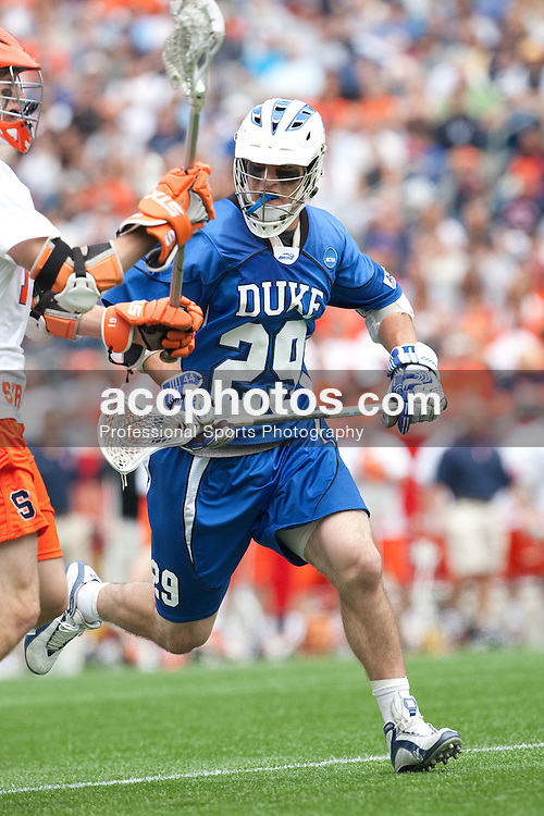 23 May 2009: Duke Blue Devils midfielder Mike Catalino (29) during a 7-17 loss to the Syracuse Orange in the NCAA Lacrosse Semifinals at Gillette Stadium in Foxborough, MA.