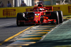 March 23, 2018 - Melbourne, Victoria, Australia - VETTEL Sebastian (ger), Scuderia Ferrari SF71H, action during 2018 Formula 1 championship at Melbourne, Australian Grand Prix, from March 22 To 25 - Photo  Motorsports: FIA Formula One World Championship 2018, Melbourne, Victoria : Motorsports: Formula 1 2018 Rolex  Australian Grand Prix, (Credit Image: © Hoch Zwei via ZUMA Wire)