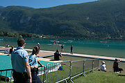 Aiguebelette, FRANCE. Genaral View,  the the finishing line, repechage, approaching the line. 11:21:20  Saturday  21/06/2014. [Mandatory Credit; Peter Spurrier/Intersport-images]