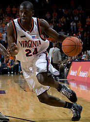 Virginia guard/forward Mamadi Diane (24)..The #23 Virginia Cavaliers men's basketball team defeated Drexel Dragons 72-58 at the John Paul Jones Arena in Charlottesville, VA on November 20, 2007.