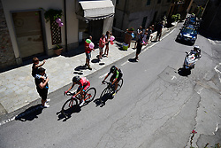Alice Arzuffi (ITA) and Sheyla Gutierrez Ruiz (ESP) have a big lead at Giro Rosa 2018 - Stage 2, a 120.4 km road race starting and finishing in Ovada, Italy on July 7, 2018. Photo by Sean Robinson/velofocus.com