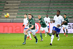 February 13, 2019 - Saint Etienne, France - 27 ROBERT BERIC (ASSE) - 05 LAMINE KONE  (Credit Image: © Panoramic via ZUMA Press)