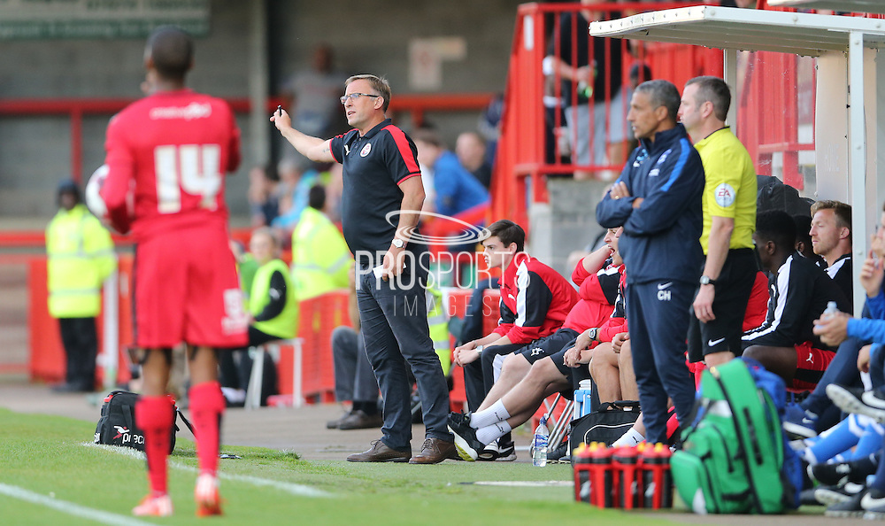 Mark Yates during the Pre-Season Friendly match between Crawley Town and Brighton and Hove Albion at the Checkatrade.com Stadium, Crawley, England on 22 July 2015.