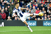 West Bromwich Albion defender Kieran Gibbs (3) takes a shot at goal during the EFL Sky Bet Championship match between West Bromwich Albion and Norwich City at The Hawthorns, West Bromwich, England on 12 January 2019.