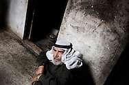 SYRIA, Idlib province, Taftanaz:  A Syrian man who lost two sons that were killed by Al Assad forces, is seen in his house, on April 11, 2012. ALESSIO ROMENZI