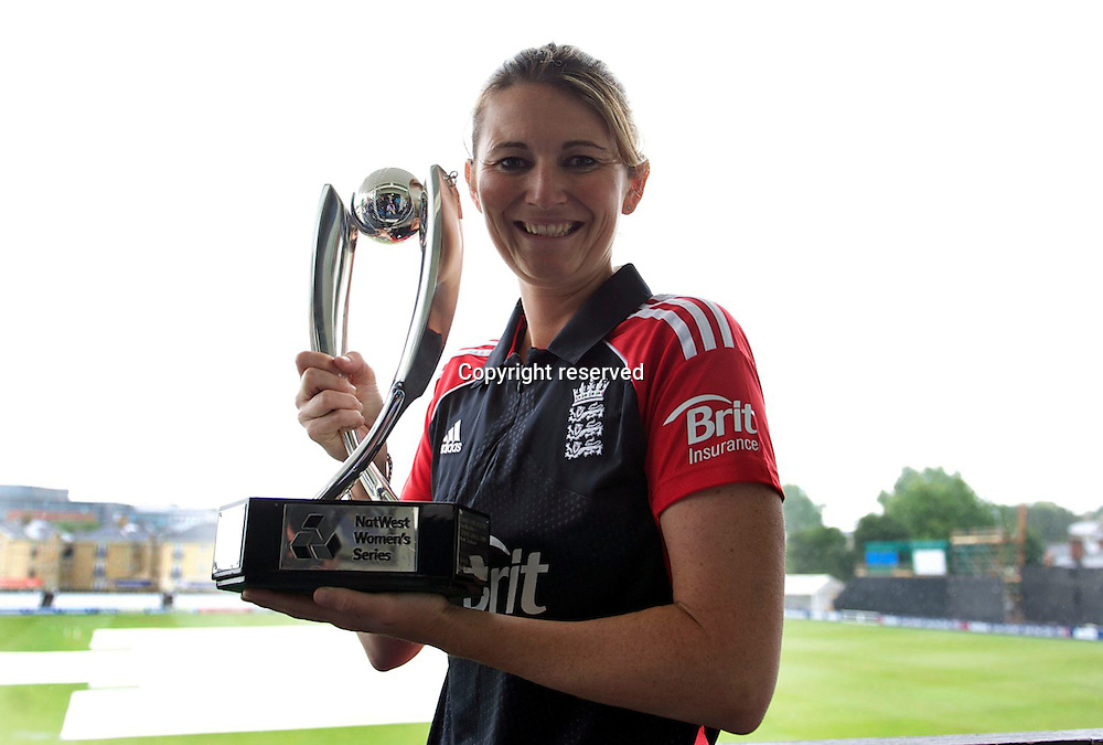 22.6.2011. Charlotte Edwards, England Women's cricket captain at the  NatWest Women's Quadrangular Series between England, Australia, New Zealand and India, Launch at Essex CCC, The Ford County Ground, Chelmsford, Essex, England. 22 June 2011.
