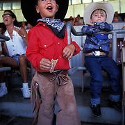Rodeo fans take in the action in Santa Barbara, CA.