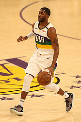 February 27, 2019 - Los Angeles, CA, U.S. - LOS ANGELES, CA - FEBRUARY 27: New Orleans Pelicans Guard E'Twaun Moore (55) during the first half of the New Orleans Pelicans versus Los Angeles Lakers game on February 27, 2019, at Staples Center in Los Angeles, CA. (Photo by Icon Sportswire) (Credit Image: © Icon Sportswire/Icon SMI via ZUMA Press)