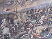 Italy, Rome, The Vatican Museum mural detail