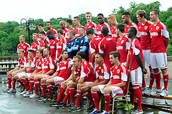 The Bristol City squad prepare for a team photo - Photo mandatory by-line: Dougie Allward/JMP - Tel: Mobile: 07966 386802 31/07/2013 - SPORT - FOOTBALL - Avon Gorge Hotel - Clifton Suspension bridge - Bristol -  Team Photo