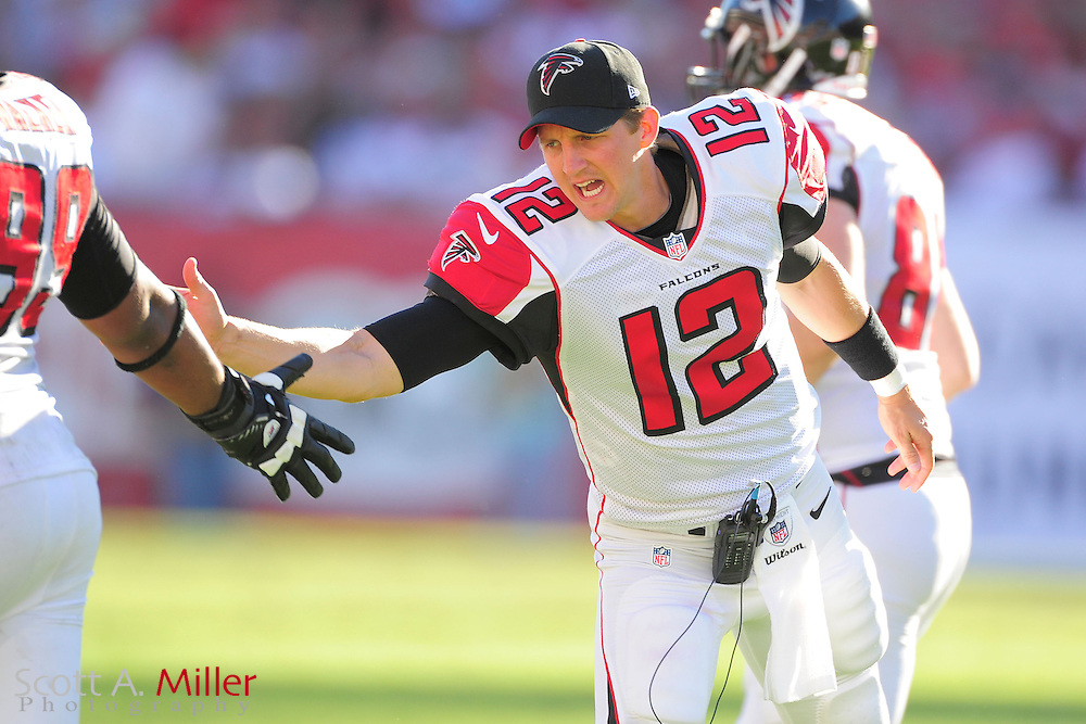 Atlanta Falcons quarterback Luke McCown (12) during an NFL game against the Tampa Bay Buccaneers at Raymond James on November 25, 2012 in Tampa, Florida. ...©2012 Scott A. Miller..