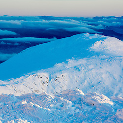 Mount Jefferson at dawn as seen from the summit of New Hampshire's Mount Washington.